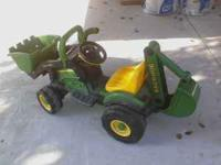 John deere Tractor asking $100 and Motorcycle