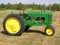 selling my John Deere Model A tractor that is electric
