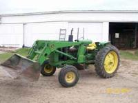 1984 John Deere Diesel Tractor 126 loader 75hp many new