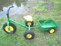 John Deere Tuff Trax - TMX Trike with trailer in good
