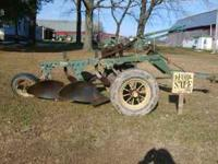 John Deere Two Bottom 14 inch trailer plow. New tires,