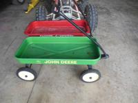 I have a good little John Deere Steel wagon for sale,