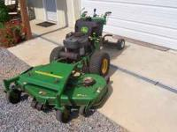 "'08 JD 7H19 54"" deck mower with 19hp Kawasaki. Hydro,"