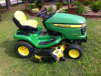 2009 JOHN DEERE X320 RIDING LAWNMOWER. * HYDROSTATIC