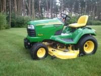 Selling my John Deere X 475 Garden Tractor with only