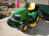 This sale is for a like new John Deere X485 with a 54""