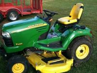 2008 X485 JOHN DEERE MOWER * RUNS EXTREMELY QUIET * 62""
