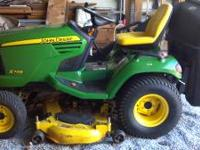 2008 DEERE X748 SERIES 4X4 RIDING LAWNMOWER WITH 54''