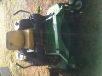 "i have a john deere 60"" zero turn sit down 60"""
