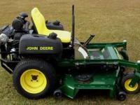 This is a John Deere commercial zero turn lawn mower