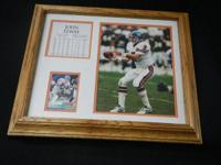 John Elway Matted & Framed Picture & Stats, 13.5 x
