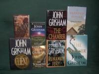 8 books, 5 hard cover, 3 soft cover, excelent condition