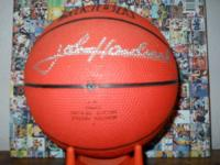The great John Havlicek autographed basketball in