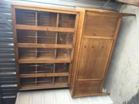 This is a Vintage / Collectible Wooden Walnut Two-piece