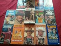 i have a lot of john wayne vhs tapes for sale i have no