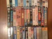 I am selling 42 John Wayne VHS Tapes, $20 for the