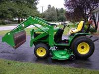 John Deer 4100 compact tractor Diesel 4x4 20 hp 3 point