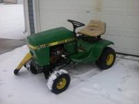 I have a John Deere 111 lawn tractor for parts. It has