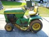 John Deere 210 riding Mower runs great new tires and