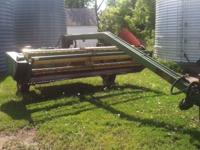 John Deere 12 foot swing tongue haybine for sale. Works