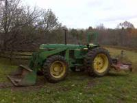JOHN DEERE 2940 4X4 TRACTOR WITH LOADER