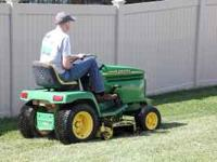 John Deere 345 riding mower in good running condition.