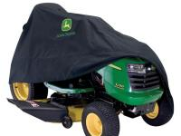 The John Deere 46 in. x 44 in. Black Riding Mower Cover