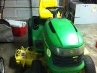 2004 John Deere G110 Paid $4200 brand new this is not