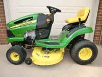 "2006 JOHN DEERE 125 20hp 42"" Automatic Riding Lawn"