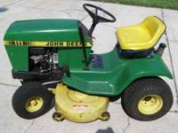 John Deere lawn tractor, Model 111. Purchased new in