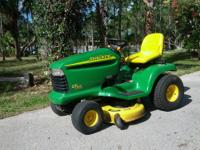 "Here's a John Deere model LT 160. with a 42"" EDGE deck;"