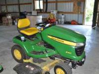 JD X320 Lawn Tractor with 48 inch deck, 22 hp Kawaski