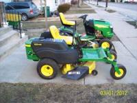 A John Deere Z225 zero turn, with ONLY 81 hours on it.