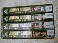 JOHNNY CARSON TONIGHT SHOW COLLECTION, 4 VHS TAPES
