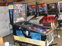 This is a nice Johnny Mnemonic pinball machine. It