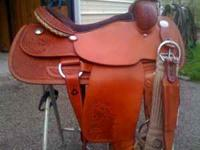 "Johnny Ruff 16"" roping saddle- purchased and picked up"