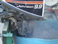 Johnson 15hp outboard with a 9.9 hood. This motor