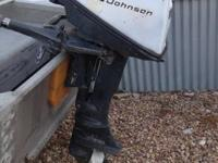 Offering a 1969 Johnson 6HP brief shaft outboard motor.