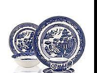 2 sets ( 40 pieces total) of Willow blue & white china