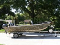 14.5' Polar Kraft Jon Boat with like new 2014 15hp