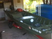 2012 15' Jon Boat for sale asking $1500. The boat has a