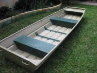 Jon Boat for sale 12 foot, Heavy gauge aluminum. Ready