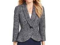Jones New York's tweed jacket offers a perfect fit for