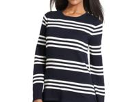 Cozy up in Jones New York's striped sweater, featuring