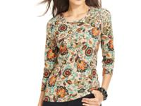 A floral and medallion print combines for a colorful