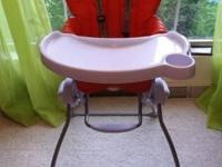 JOOVY NOOK HIGHCHAIR~RARE ORANGE & white colored >