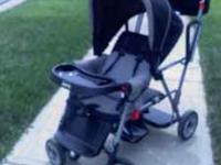Joovy stand-on tandem stroller. Black. Great condition