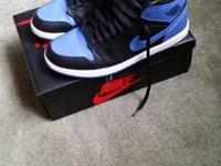 Pair of really clean worn twice jordan 1s royals come