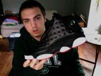 size 11 jordan 13 playoff edition. worn 3 times, great