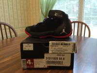 Size: Boys Grade School - Size 4 Color: Black, Red,